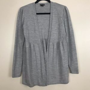 Theory Ethany Open Gray Wool Cardigan Sweater